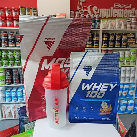 TREC Zestaw Gainer Mass XXL 3kg, Białko Whey 900g, Odżywki na mase