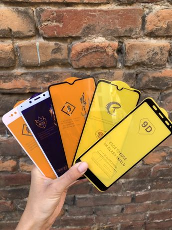 Cтекло Xiaomi 3д/9d Redmi 4/5/6/7/8/9 c Mi A 1 2 Note Pro X сяоми нот