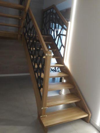 Usługi stolarskie - schody drewniane