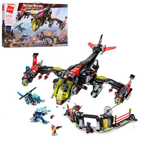 Конструктор Qman 2721Q самолет, вертолет, фигурка, 1013 дет.