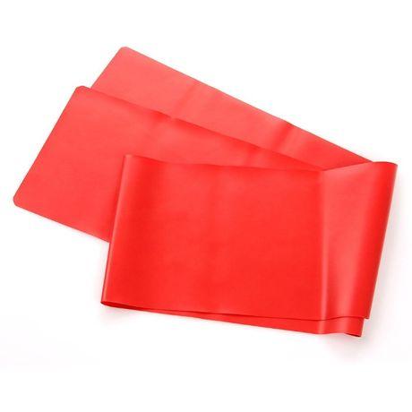TAŚMA FITNESS METEOR 120x15 cm (opór słaby) czerwona