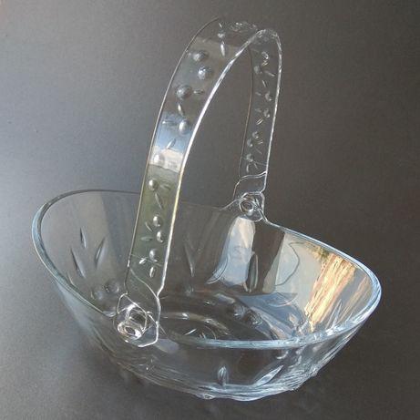 Kорзинка стеклянная конфетница посуда