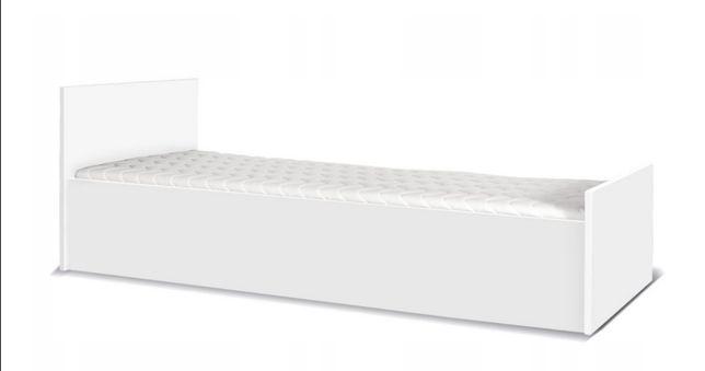 Łóżko 90 białe jednoosobowe