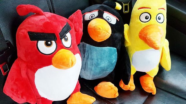 Komplet pluszowych bohaterów Angry Birds duże maskotki