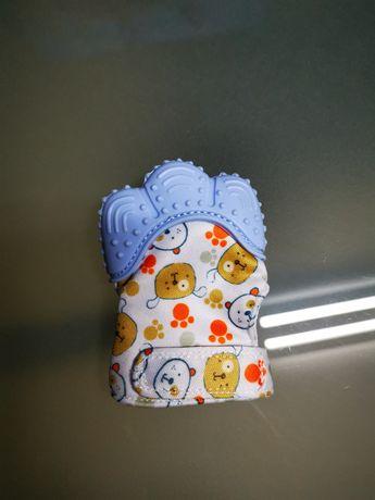 Par de luvas com mordedor para bebé nova com portes incluídos