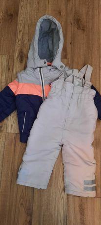 Komplet zimowy, kurtka + spodnie rozm. 86