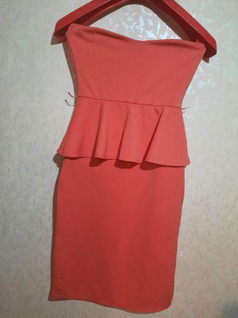 Вечернее платье с баской, сарафан