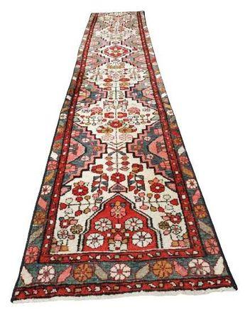 Perski Ręcznie Tkany Chodnik Wełniany Oryginał Duży dywan vintage loft