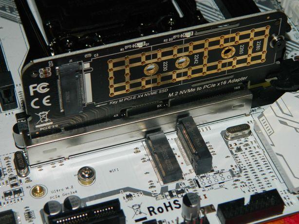 m.2 nvme pci-e x4/8/16 переходник для ssd с радиатором