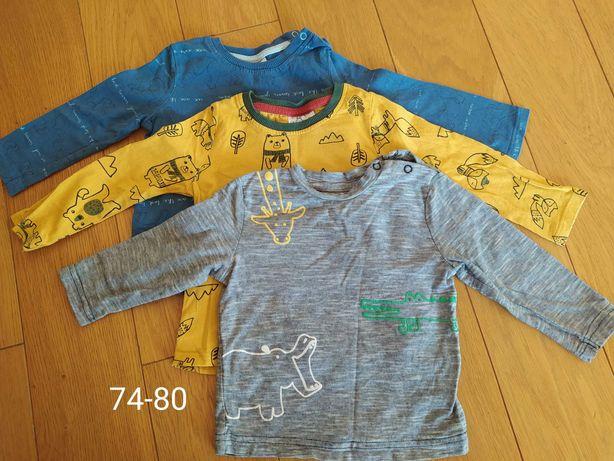 Koszulki z długim rękawem 74-80