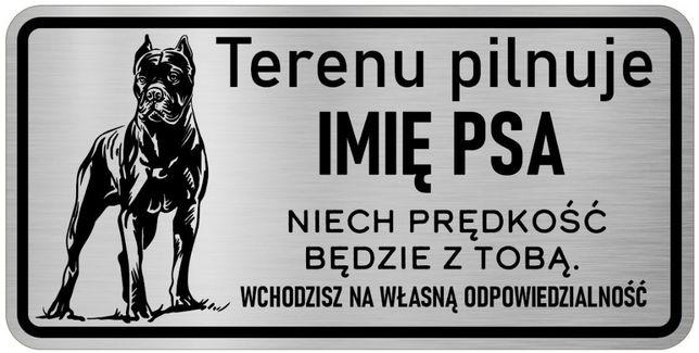 Cane Corso tabliczka nierdzewna uwaga pies