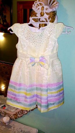 Нарядное платье Радуга Baby Rose, 2-3 года.