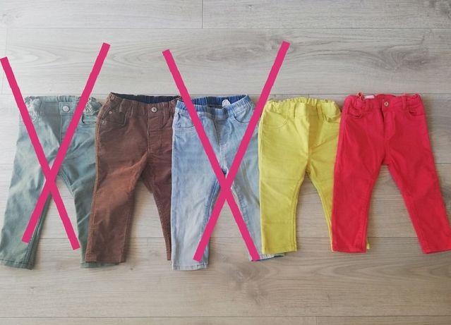 Spodnie, dżinsy Hm 80, 9-12m, Zara 86, 12-18