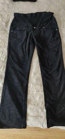 Spodnie ciążowe czarne sztruksy XL nivena