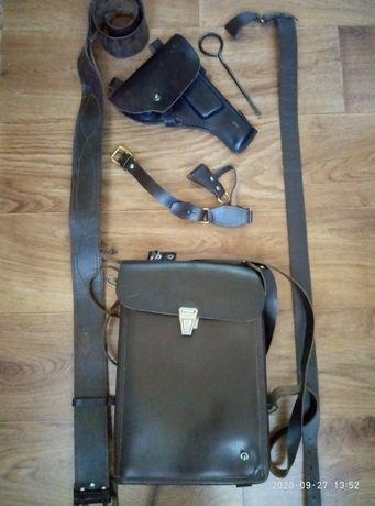 Продам офицерскую сумку-планшетку, кобуру, портупею...