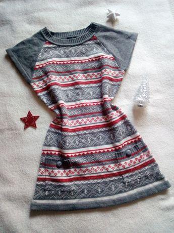 KappAhl sweter tunika świąteczna 170 cm XS/S