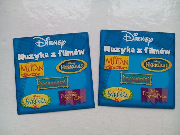 2 x płyta CD Disney Muzyka z filmów+ 2 x malowanka Disney z naklejkami