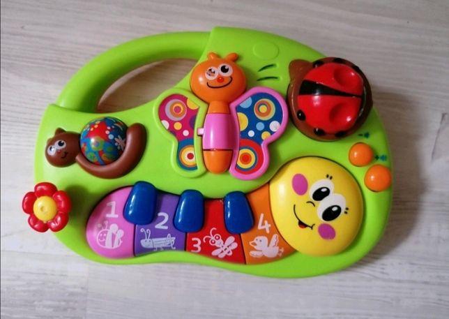 Gra edukacyjna muzyczna pianinko 6+ zabawka dla dzieci niemowlaków