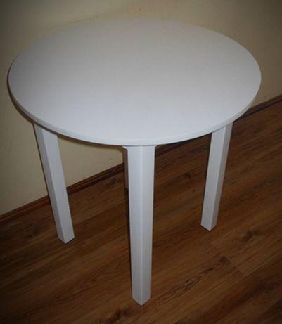 Stół okrągły 70 cm biały 80 ,90 . 100