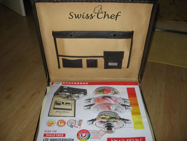 zestaw garnków Swiss Chef zamienię lub sprzedam