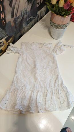 Śliczna letnia sukienka Coccodrillo 104 haft