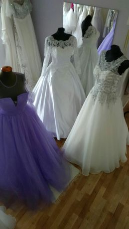 Suknie ślubne 36-46 od 100 do 1000zl.
