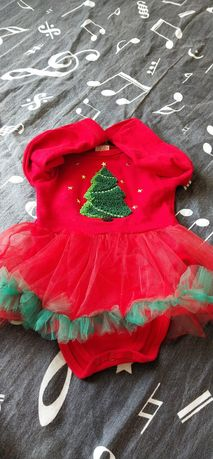 Новогоднее боди- платье для вашей принцессы!