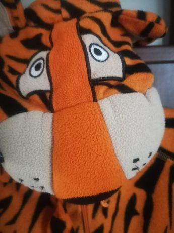 Tygrys strój pizama karnawał przebranie kombinezon kostium bal tanio