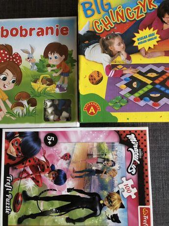Zestaw gier planszowych puzzle grzybobranie chińczyk