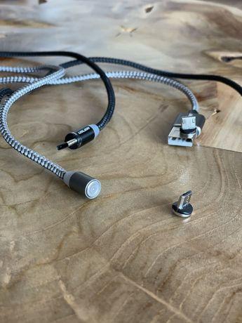 Cabos de carregamento USB 2 com saidas magneticas