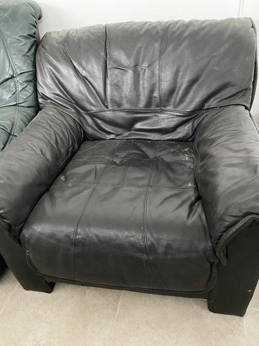 Кресло кожаное черное Хмельницкий - изображение 1