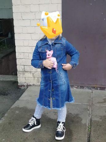 Кардиган джинсовый на девочку 5 лет