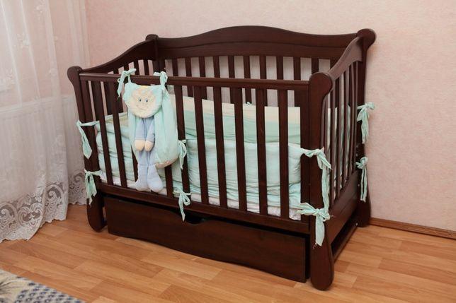 Детская кроватка премиум-класса ТМ Верес ЛД-18 +матрас