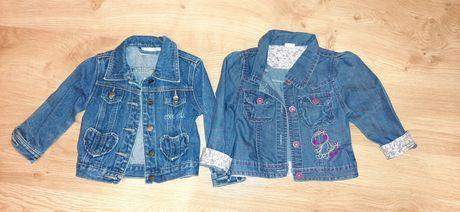 Kurtki jeansowe dla dziewczynki, rozmiar 92