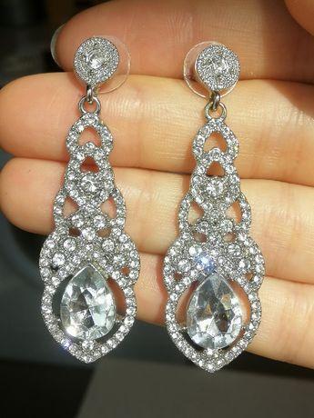 Свадебный набор украшений (браслет и серьги)
