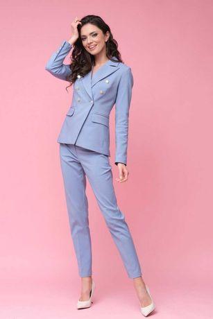 Eleganckie niebieskie spodnie