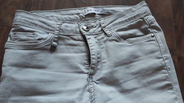 Spodnie Amisu szare r.34