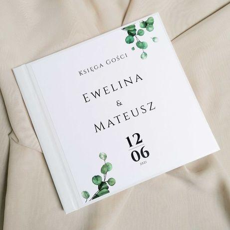 Piękna księga gości na wesele - eukaliptus