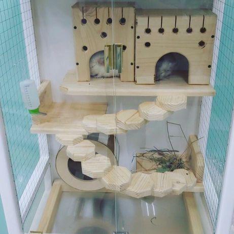 Витрина, клетка для шиншилл, дегу, белок, с комплектацией