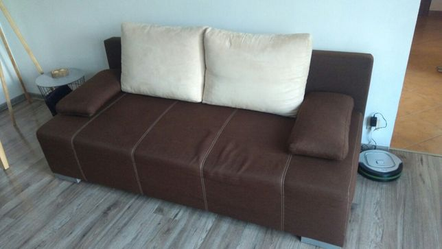 Sofa Black Red white
