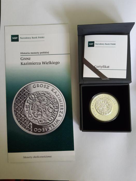 Grosz Kazimierza Wielkiego moneta Domaradz - image 1