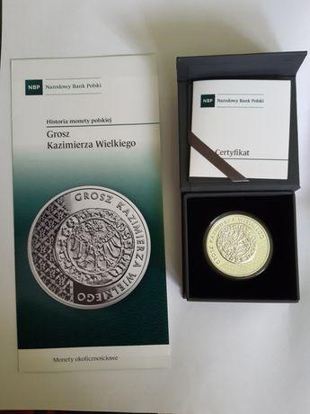 Grosz Kazimierza Wielkiego moneta