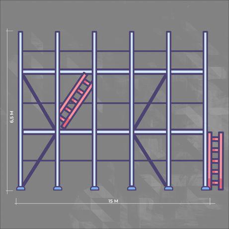 Rusztowanie elewacyjne typu Plettac 100 m2 podest stalowy TANIEJ