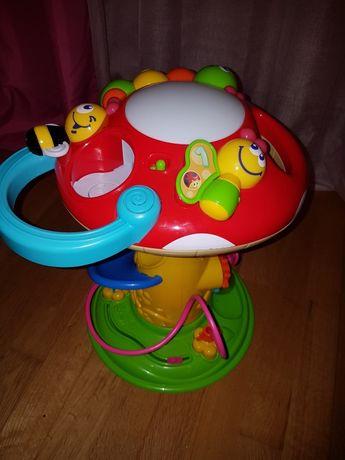 Brinquedo musical e luminoso com bola e coelho