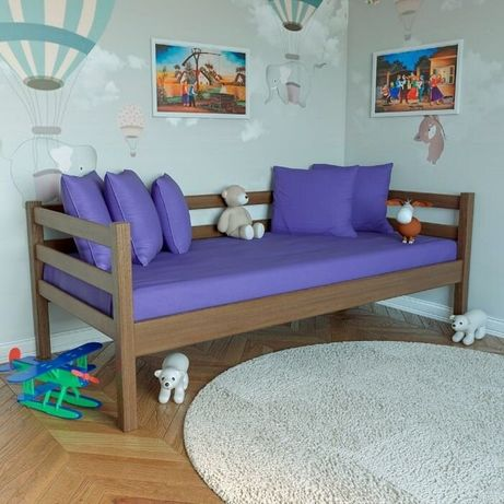 """Односпальне ліжко """"Софт"""" 900*2000 натуральне дерево"""