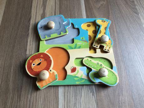 Jogo / Puzzle Animais Criança