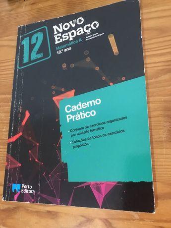 caderno prático de matematica A 12° Porto Editora