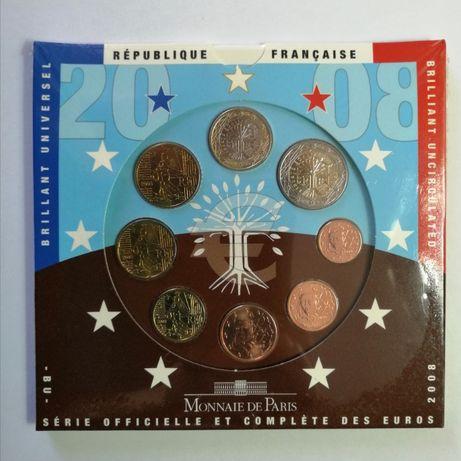 Carteira Moedas Euro BNC França 2008
