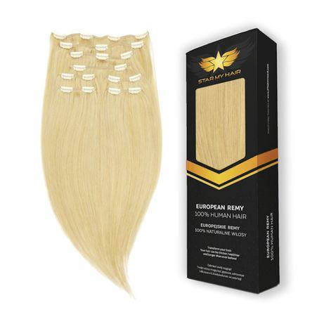 CLIP-IN Włosy doczepiane Europejskie GĘSTY 60cm 215 gram PREMIUM