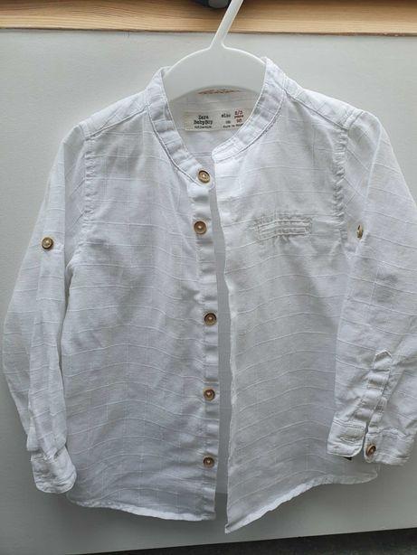 Koszula biała Zara len r.98